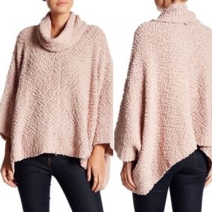 Romeo & Juliet Couture Cowl Neck Sweater Rose Pink